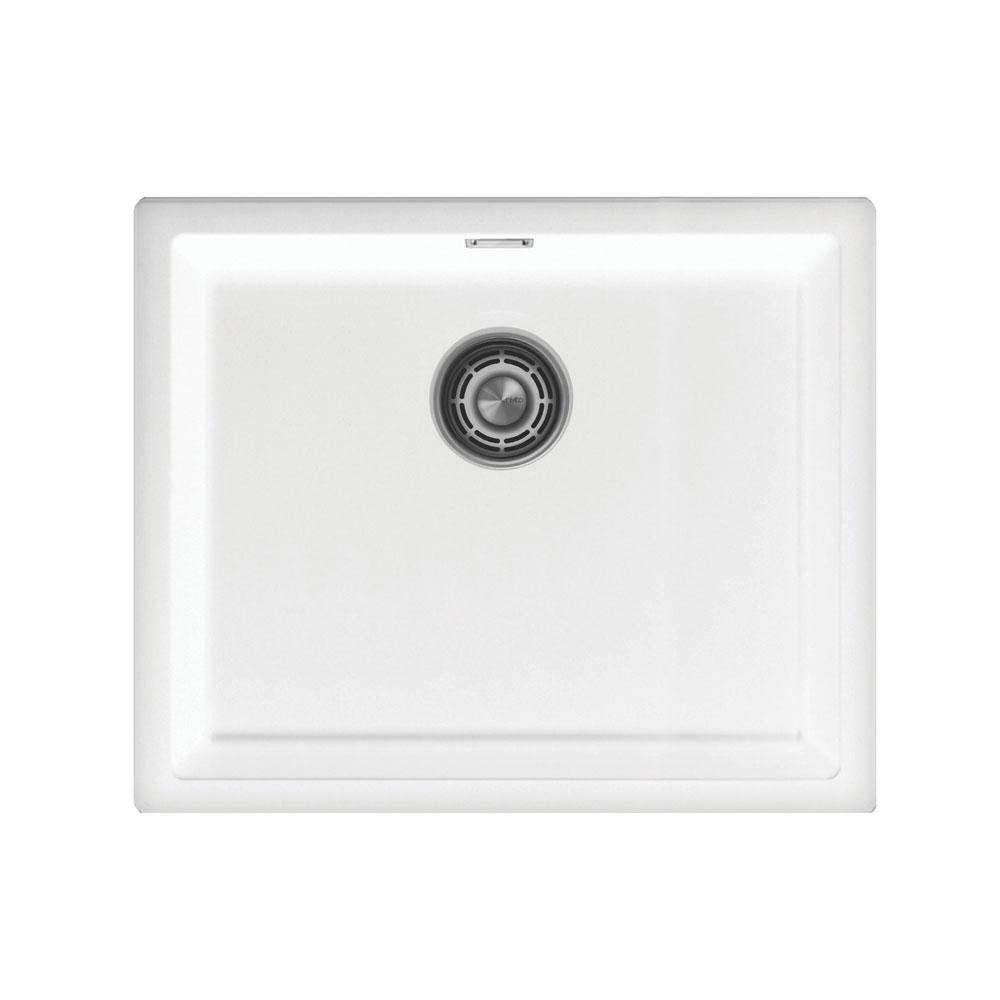 Άσπρο Κουζίνα Λεκάνη - Nivito CU-500-GR-WH Brushed Steel Strainer ∕ Waste Kit Color