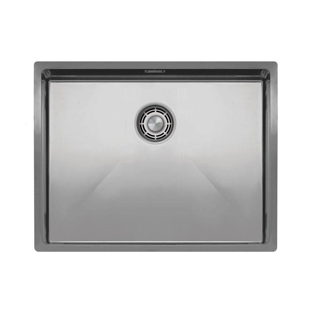 Ανοξείδωτος Χάλυβας Κουζίνα Λεκάνη - Nivito CU-550-B Brushed Steel Strainer ∕ Waste Kit Color