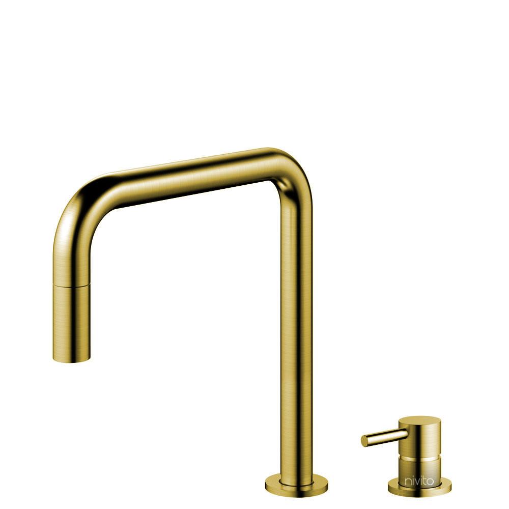 Ορείχαλκος/Χρυσός Κουζίνα Βρύση Πτυσσόμενος σωλήνας / Ξεχωριστό Κομμάτι/Σωλήνας - Nivito RH-340-VI