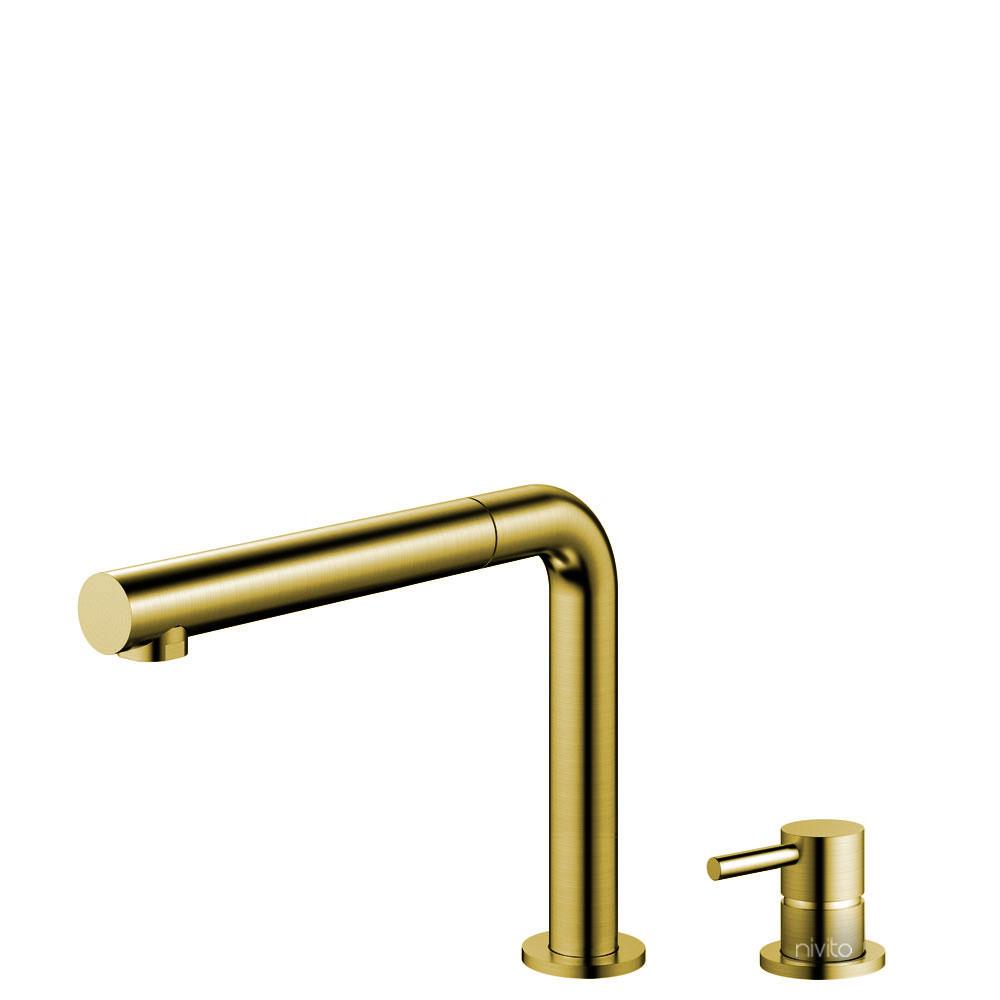 Ορείχαλκος/Χρυσός Κουζίνα Βρύση Πτυσσόμενος σωλήνας / Ξεχωριστό Κομμάτι/Σωλήνας - Nivito RH-640-VI