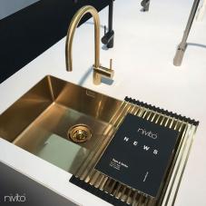 Ορείχαλκος/Χρυσός Κουζίνα Νεροχύτη - Nivito 1-CU-500-180-BB