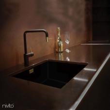 Ορείχαλκος/Χρυσός Κουζίνα Μπαταρία Μαύρο/Χρυσός/Ορείχαλκος - Nivito 2-RH-340-BISTRO