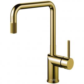 Ορείχαλκος/Χρυσός Κουζίνα Μπαταρία Πτυσσόμενος σωλήνας - Nivito RH-340-EX-IN